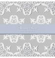 Vintage Baroque Luxury lace card vector image vector image