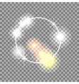 White circle lens flare effect Abstract vector image vector image