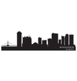 Winnipeg Canada skyline Detailed silhouette vector image vector image