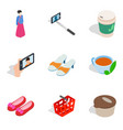 women shop icons set isometric style vector image