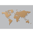 World map Brown Cardboard vector image vector image