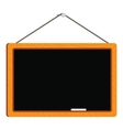 blank blackboard in wooden frame vector image