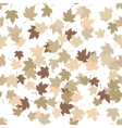 Seamless pattern with golden autumn leaves on vector image