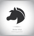 sign horse logo vector image