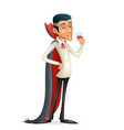 3d vampire gentleman costume halloween party savor vector image vector image