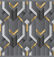 abstract geometric decor stripes black and golden vector image vector image