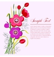 Anemone bouquet vector image vector image
