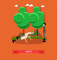 army concept in flat style vector image vector image