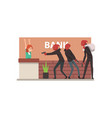 bank robbery group of male thieves committing vector image vector image