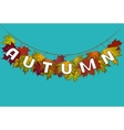 banner of autumn leaves vector image