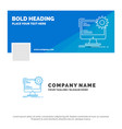 blue business logo template for internet layout vector image vector image