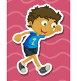 Boy walking vector image vector image