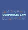 business law word concepts banner