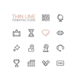 Business - Thin Single Line Icons Set vector image vector image
