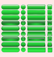 buttons green many for website design vector image vector image