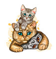cats wall sticker graphic vector image vector image