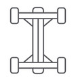 chassis thin line icon car and part auto shaft vector image vector image