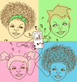 children with player vector image vector image