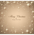 Christmas beige starry background vector image vector image