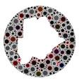 coronavirus hole round botswana map mosaic vector image vector image