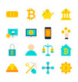 cryptocurrency bitcoin objects vector image vector image