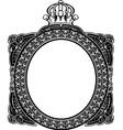 decorative royal oval vintage frame vector image vector image