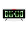 digital clock alarm 6 am vector image