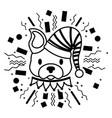 dog party celebration vector image
