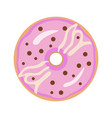 donut on white background for graphic and web vector image