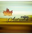 Enjoy autumn vector image