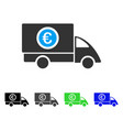 euro delivery flat icon vector image vector image