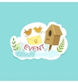 Event Template Label Cute Sticker With Birds And vector image vector image