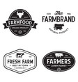 farmers market logo templates stamps labels badges vector image vector image