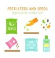 fertilizer Seeds pack design vector image