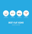 flat icon clothes set of beach sandal sneakers vector image vector image