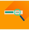 Flat icon with long shadow find money vector image vector image