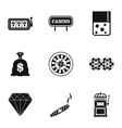 Gambling house icons set simple style vector image vector image
