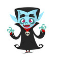 happy cartoon vampire vector image vector image