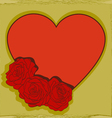 Heart decorated with rosespostcard vector image vector image