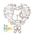logo design template for pet shops set vector image vector image