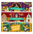 mexican day dead holiday dia de los muertos vector image vector image
