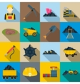 Mining Icons set flat style vector image vector image