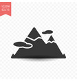 mountain peak icon simple flat style vector image vector image