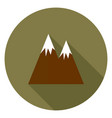 mountain with a long shadow vector image