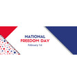 national freedom day february 1 banner vector image vector image