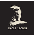 negative space concept of warrior head in eagle vector image vector image