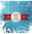 New Year greeting white Label and red Ribbon