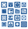 One tone Mobile Phone Computer and Internet Icons vector image vector image