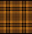 orange and brown tartan plaid scottish pattern vector image vector image