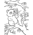 panda seats on the tree and eats leaves vector image vector image